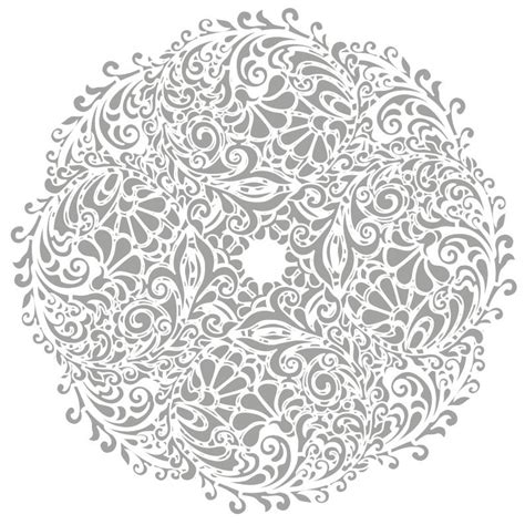 round floral designs floral round background vector illustration free vector