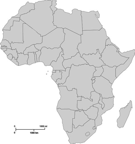 Scramble For Africa Outline Map by Cartes De L Afrique Et Information Sur Le Continent Africain