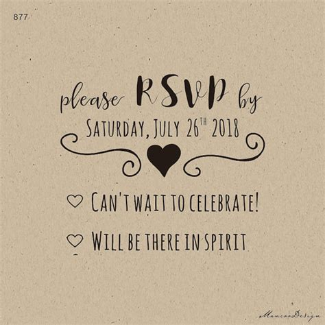 rsvp rubber st wedding custom rubber st rsvp st modern curly font diy rsvp