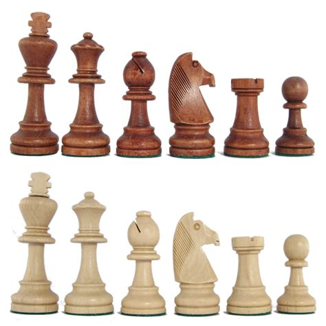chess set pieces chess pieces 3 3 4 quot stained beech standard staunton