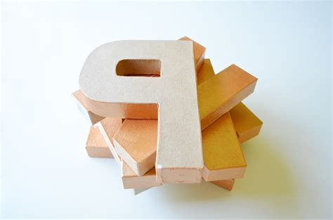 craft letters paper mache letters