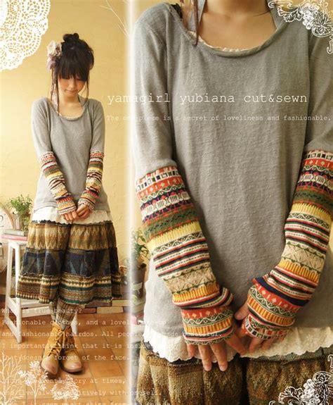Print Fleece Arm Sleeves sew sweater sleeves onto a sleeve shirt diy