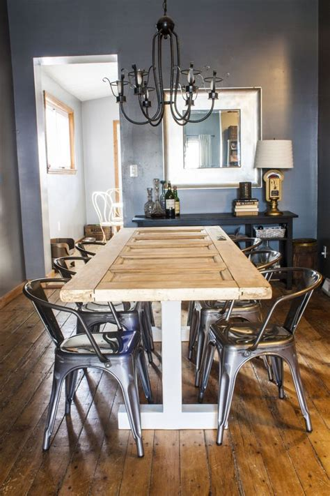 Turning An Old Door Into A Dining Room Table | turn an old door into your new dining room table our
