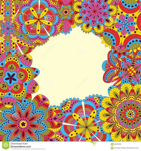 floral background made of many mandalas good for weddings