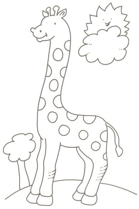 imagenes para colorear jirafa linda jirafa dibujalia dibujos para colorear