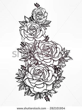 rose bunch tattoo best 25 style tattoos ideas on