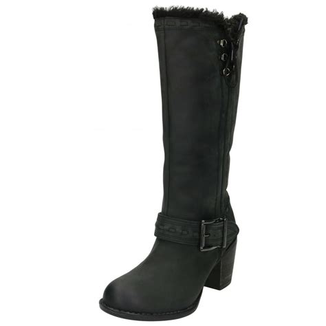 hush puppies gioia moorland leather boots knee high heel