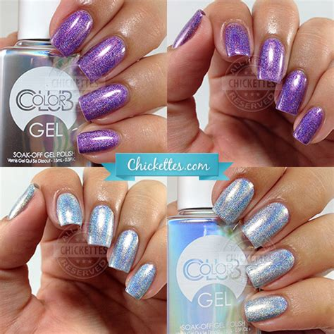 color club holographic nail color club halo hues holographic gel chickettes