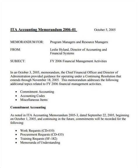 business letter memo standard business memo template sle for accounting