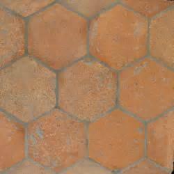 reclaimed hexagon terracotta tiles 6x6 country