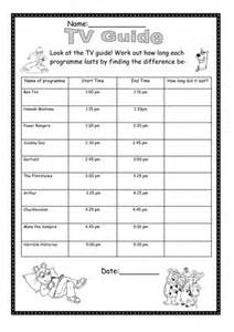 tv guide handout find the time difference by mpriest