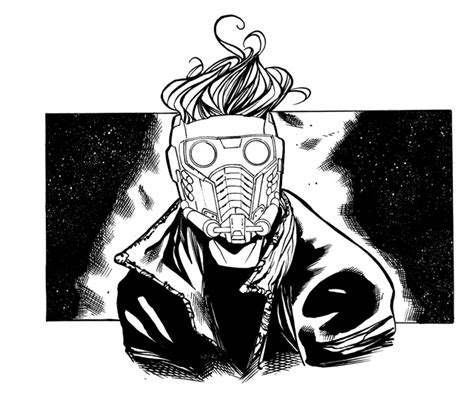 star lord inked by csyeung on deviantart