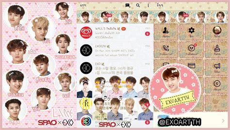 theme line exo iphone exoartth theme line exo spao