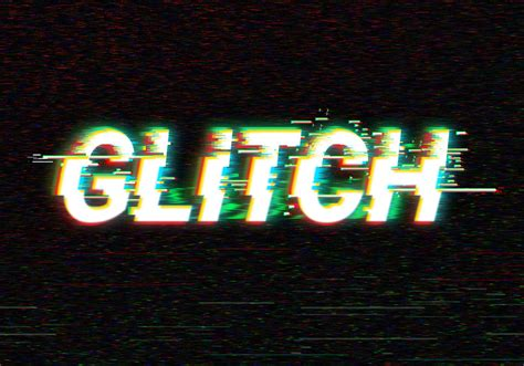digital glitch text effect graphicsfuel
