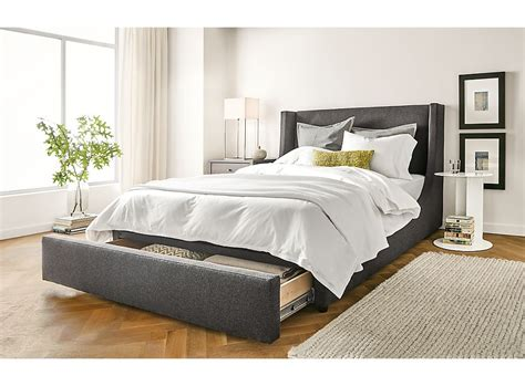 room and board beds marlo storage drawer bed bedroom room board