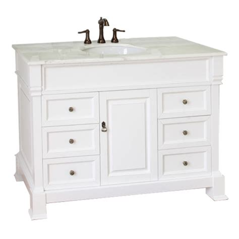 50 Inch Single Sink Bathroom Vanity With Marble