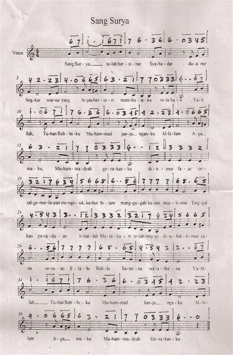 Surya Musik L1921 1 instrumen lagu mars sang surya