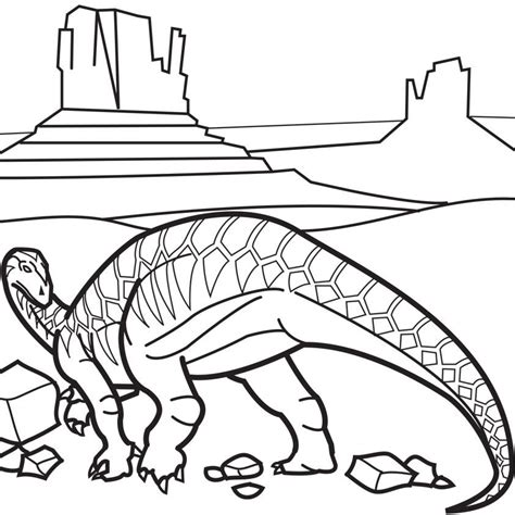 iguanodon coloring page coloring home
