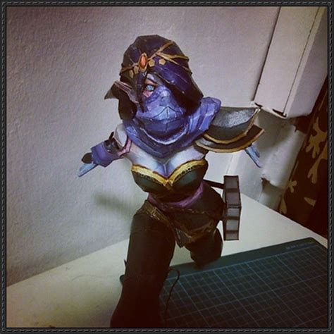 Dota Papercraft - dota 2 lanaya the templar assassin free papercraft