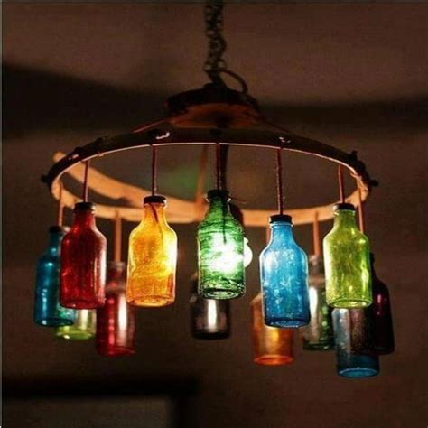 How To Make A Glass Bottle Chandelier 7 Diy Unique Upcycled Bottle Lights Diy Recycled