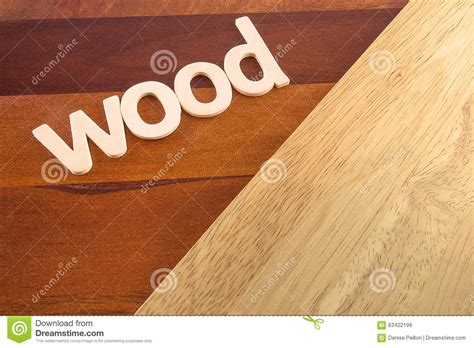 the word wood on wooden flooring stock photo image 63422199