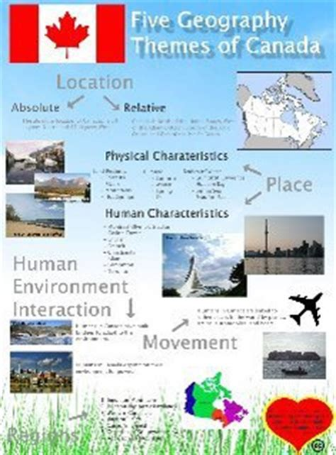 5 themes of geography canada five geography themes of canada canada canad 225 canad 192
