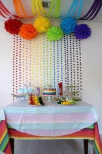 5 ideas para decorar fiestas con papel fiestas infantiles arco 237 ris