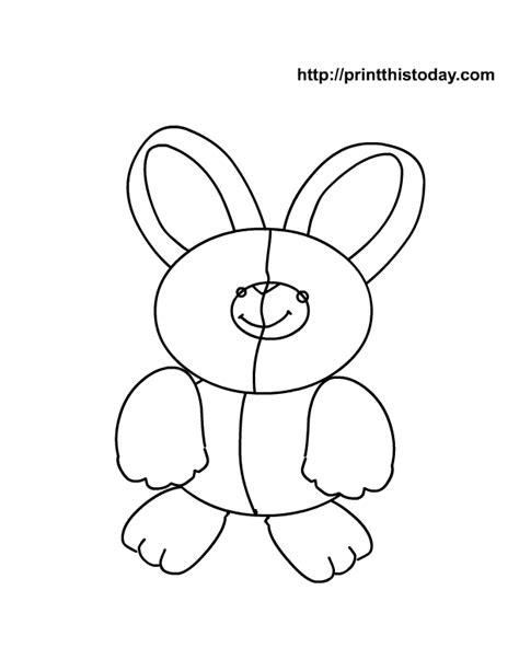 rabbit coloring pages pdf very cute bunny colouring pages az coloring pages