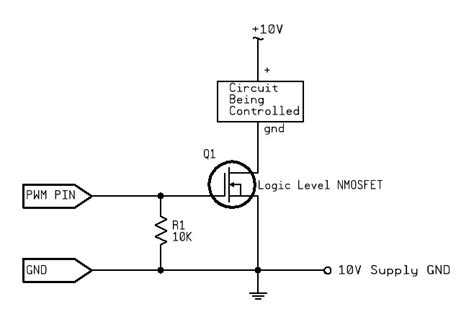 transistor mosfet pwm uno unstable pwm linear led drive