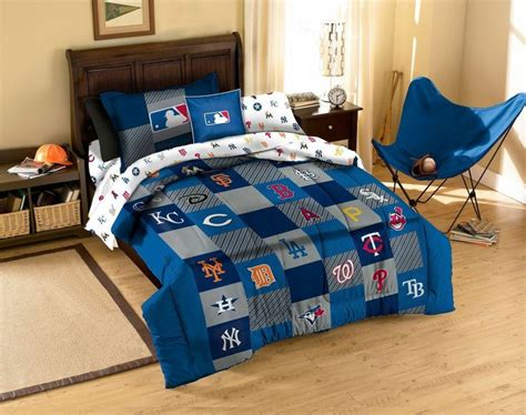 Mlb Teams Twin Bed Quilt Comforter Sham Set Baseball Fan Baseball Bedding Set