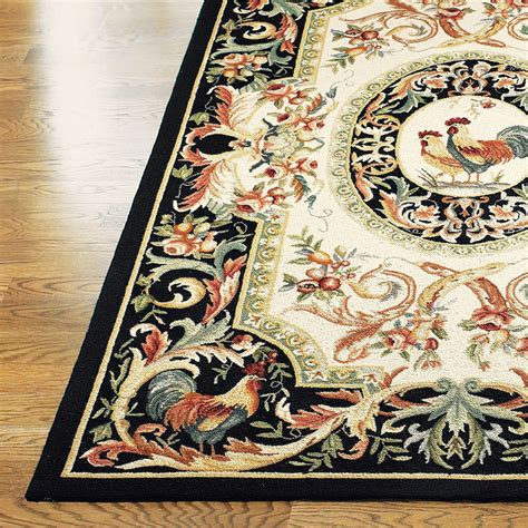 rooster kitchen rug rooster ez care rug traditional rugs