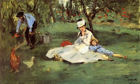 the monet family in their garden at argenteuil the agonies of monet s 26th year normandy then and now