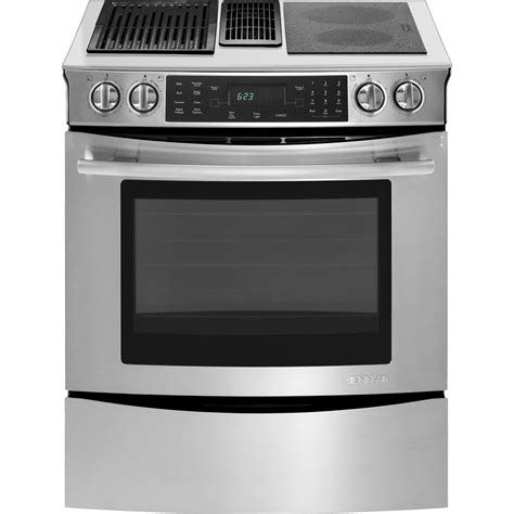 Electric Cooktop Stove Slide In Modular Electric Downdraft Range With Convection