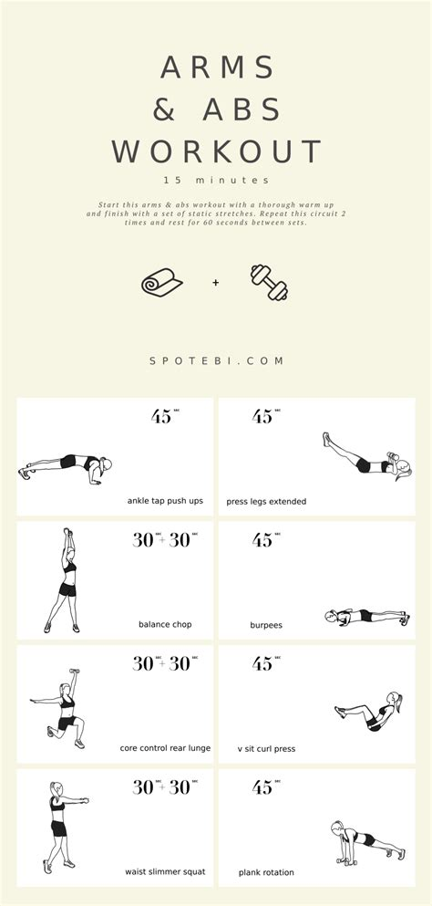 arms abs 15 minute workout