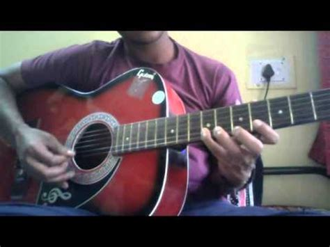 theme music kaththi kaththi theme guitar cover lesson youtube