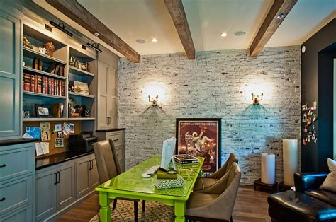 home office wall trendy textural 25 home offices with brick walls