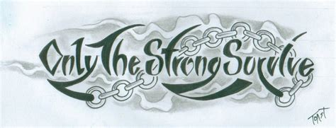 items similar to only the strong survive tattoo design on etsy