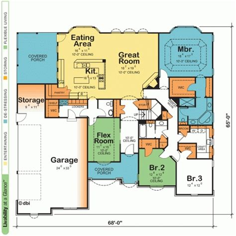 Non Open Floor Plans by House Plans With Photos One Story House Floor Plans