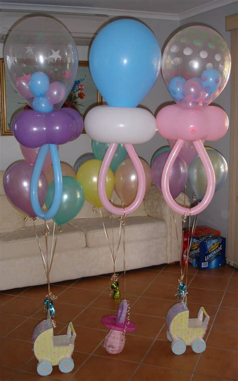 Decoration For Baby Shower by Baby Shower Balloons On Balloon Columns