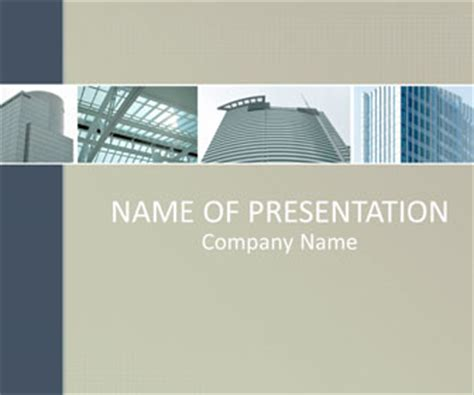 urban architecture powerpoint template templateswise com