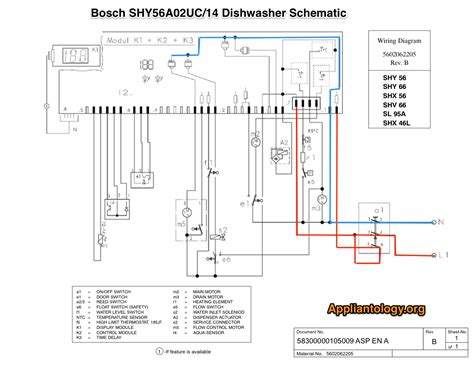 bosch dishwasher wiring diagram bosch shy56a02uc 14 diswasher schematic 58300000105009