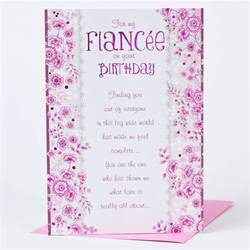 birthday card fianc 233 e only 89p