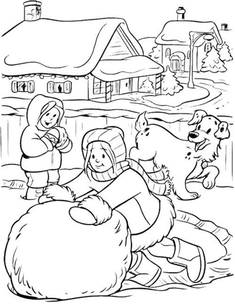 lada da disegno make a big snowball winter coloring page winter coloring