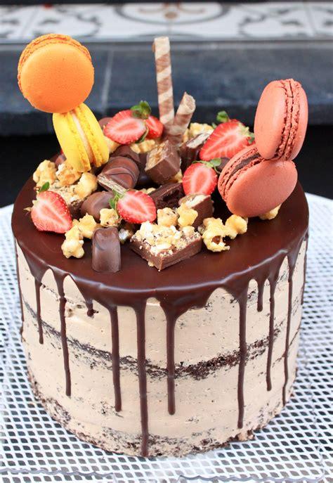 Cake Macaron Strawberry Pop Rn Brownie