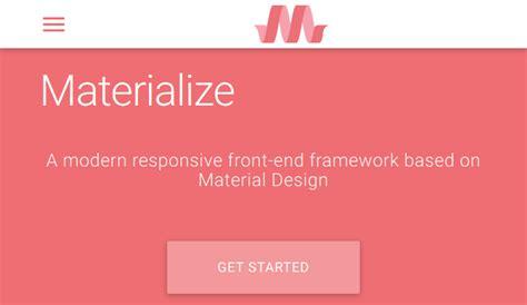 membuat navbar responsive 19 framework untuk membuat web material design responsive