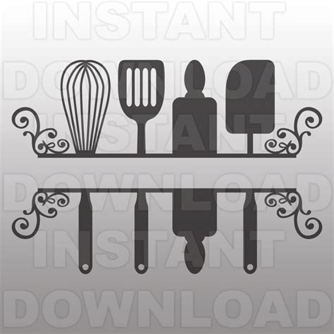 Cupcake Design Kitchen Accessories kitchen svg filekitchen monogram svgkitchen flourishvector
