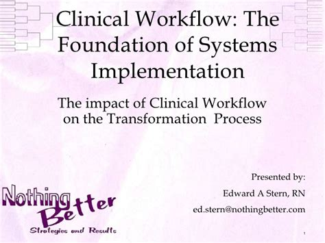 clinical workflows clinical workflow implementation