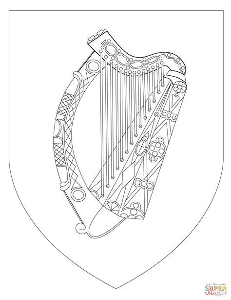Coloriage - Armoiries de l'Irlande   Coloriages à imprimer
