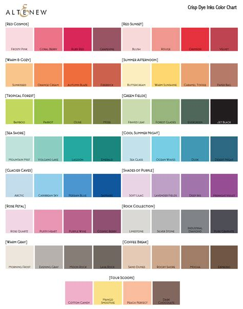 color colour color swatches altenew