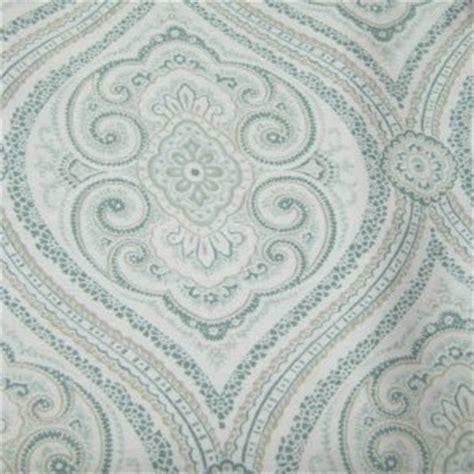 fieldcrest luxury shower curtain fieldcrest luxury ogee paisley blue green fabric shower